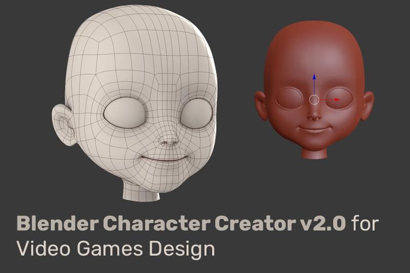 Blender Character Creator v2.0 for Video Games Design (Udemy)