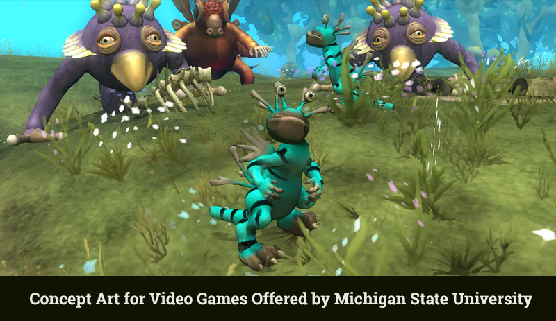 Concept Art for Video Games Offered by Michigan State University (Coursera)