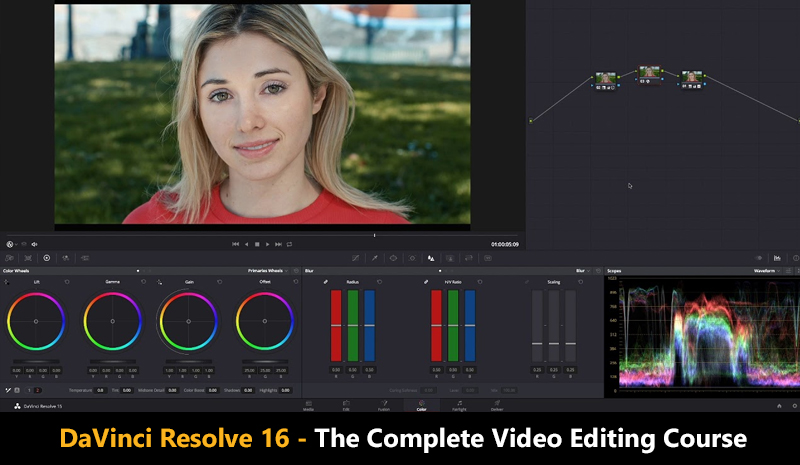 DaVinci Resolve 16 - The Complete Video Editing Course (Udemy)