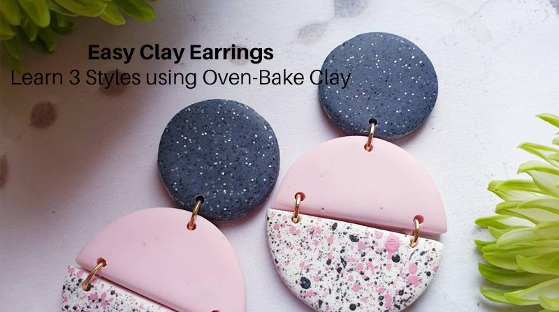 Easy Clay Earrings: Learn 3 Styles using Oven-Bake Clay (Skillshare)