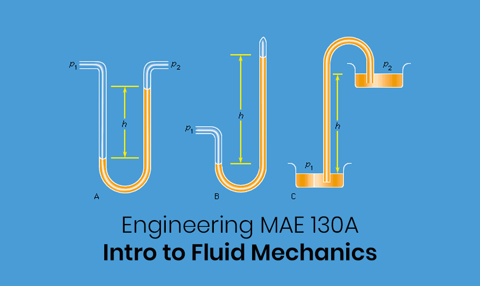 Engineering MAE 130A: Intro to Fluid Mechanics (English) [University of California, Irvine]