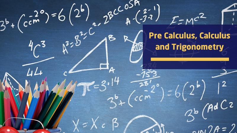 Pre Calculus, Calculus and Trigonometry - (Udemy)