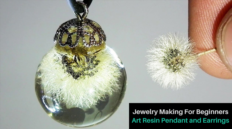 Jewelry Making For Beginners: Art Resin Pendant and Earrings (Udemy)