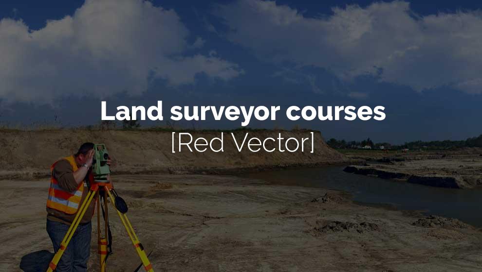 Land surveyor courses [Red Vector]