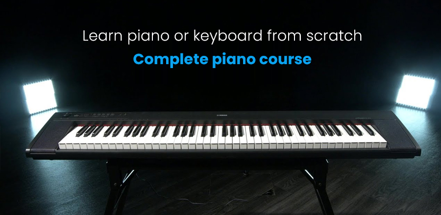 Learn piano or keyboard from scratch - Complete piano course (Udemy)