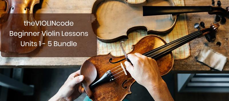 theVIOLINcode | Beginner Violin Lessons | Units 1 - 5 Bundle (Udemy)