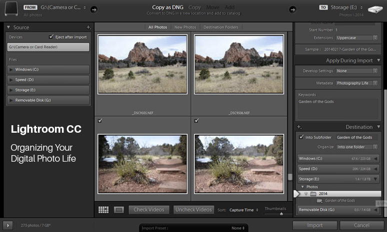 Lightroom CC: Organizing Your Digital Photo Life [CreativeLive]
