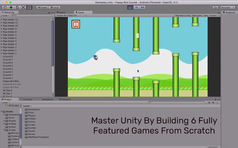 Master Unity By Building 6 Fully Featured Games From Scratch [Udemy]