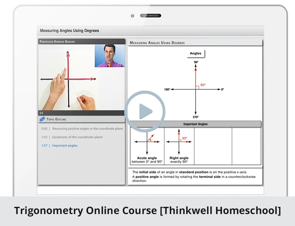 Trigonometry Online Course [Thinkwell Homeschool]