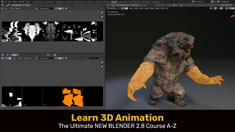Learn 3D Animation - The Ultimate NEW BLENDER 2.8 Course A-Z (Udemy)