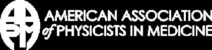 Aapm logo white