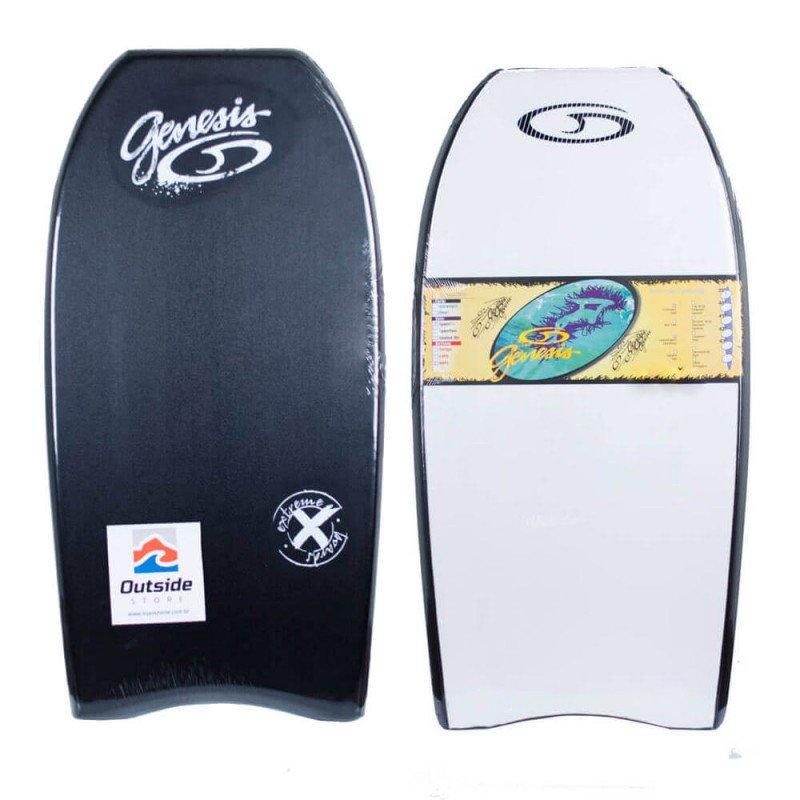 Prancha Bodyboard Genesis Extreme - Preto/Branco