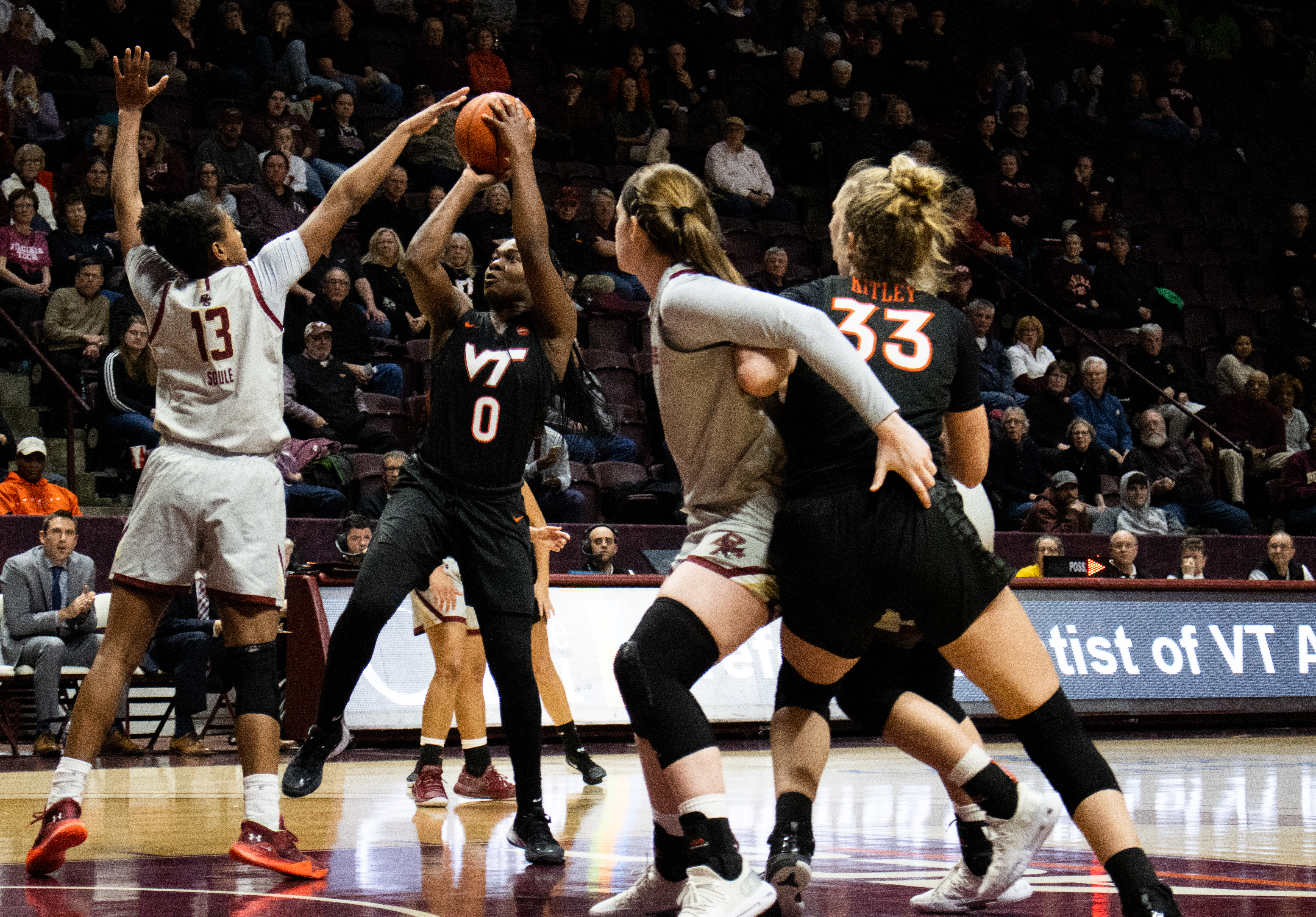 Virginia Tech Women's Basketball Dominates Boston College in 70-49 Victory