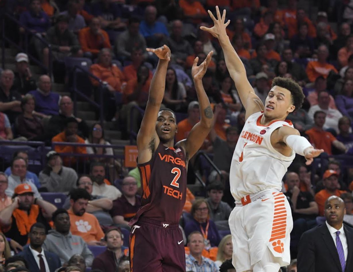 Landers Nolley Leads Virginia Tech to 67-60 Season-Opening Victory at Clemson