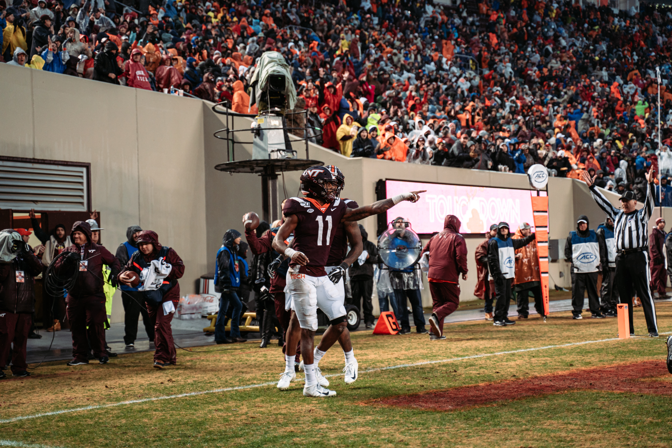 Tre Turner, Damon Hazelton, and Dax Hollifield are the Hokies of the Game Against Virginia