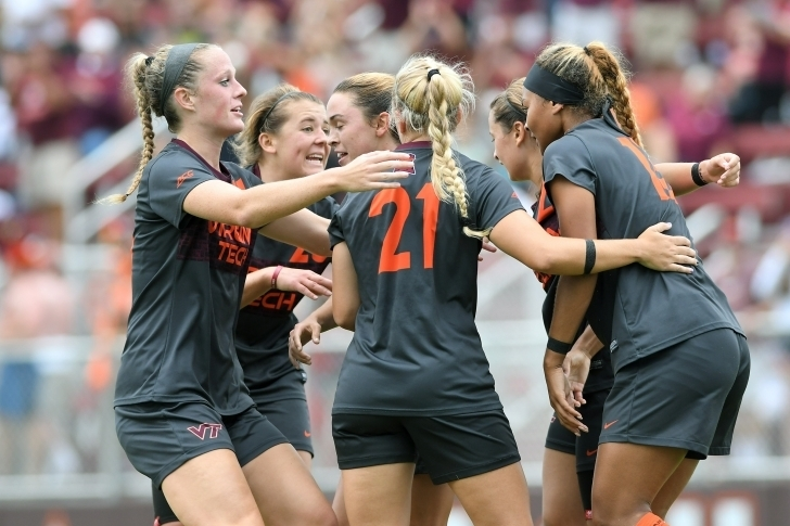 Virginia Tech Women's Soccer Beats College of Charleston, Georgia