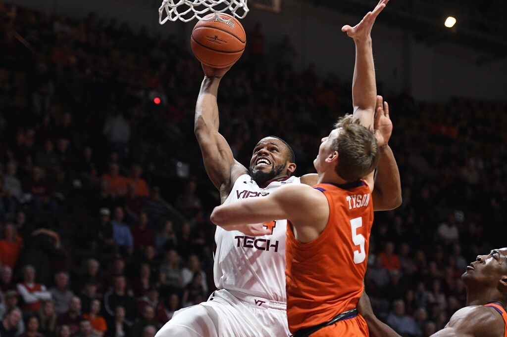 Virginia Tech Beats Clemson 70-58 on Senior Night