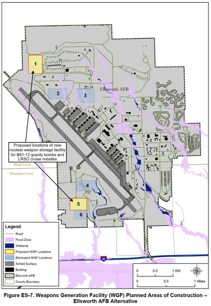 The Air Force plans to add nuclear weapons storage capacity to Dyess Air Force Base in Texas.