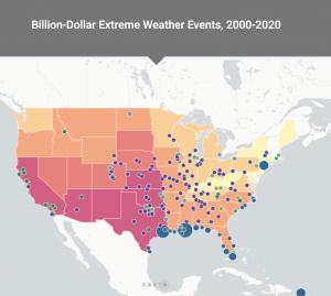 Billion-Dollar Extreme Weather Events 2000-2020