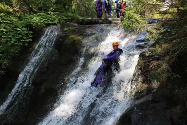 Teen canyoning on Europe youth adventure program