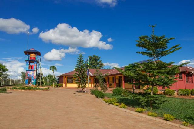 The main campus of the school in Tanzania where students participate in a summer service program.