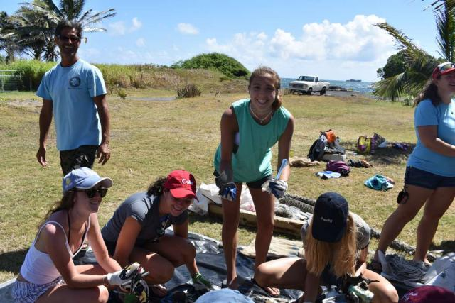 Teens do service projects in Hawaii on summer travel program.