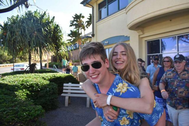 Teens have fun on their summer travel tour in Hawaii.