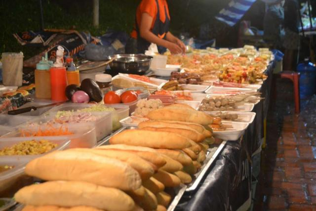 Local food sampled by teenage travelers during summer youth program in Southeast Asia