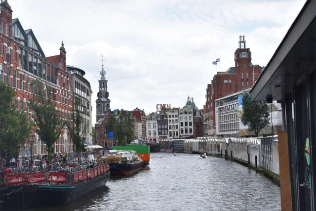 View of Amsterdam canals seen on summer teen travel trip program