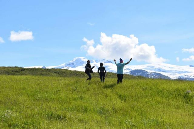 Happy teens in Iceland during summer youth adventure travel program