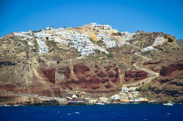 High school student captures the stunning views of Santorini on their summer teen tour.