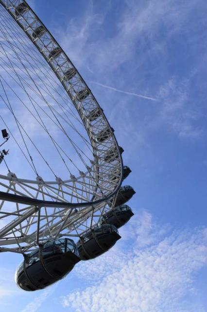 View of London Eye seen on summer teen travel program
