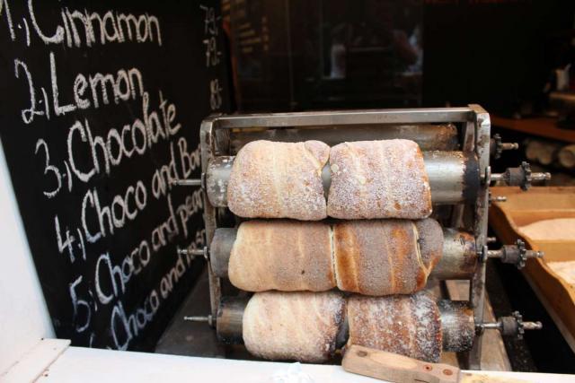 Authentic local Czech cuisine eaten on summer adventure program for teens