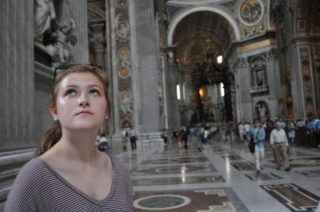 Teen captures the dramatic beauty of Rome in the Vatican on their summer teen tour to Italy.