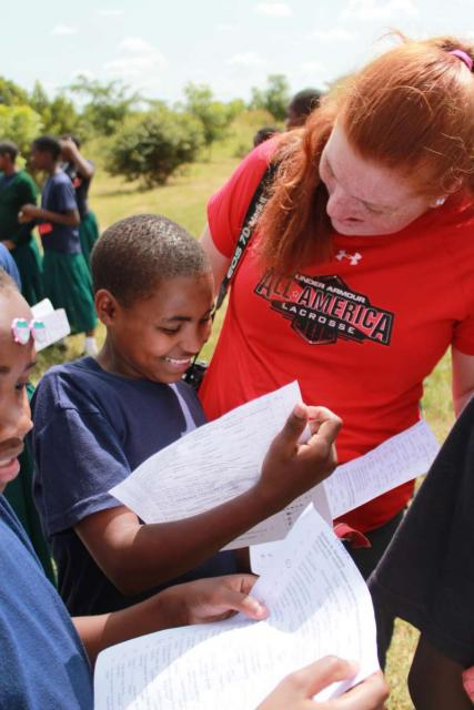 Students participate in service activities with local teens on Tanzania summer program.