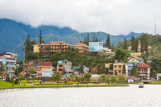 View of Sa Pa seen by teenage travelers during summer youth program in Southeast Asia