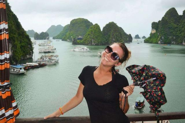 Teenage traveler with Thailand islands during summer youth program in Southeast Asia