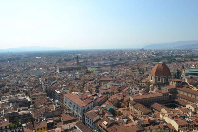Teens capture a photo of the City of Florence on their teen travel tour of Italy.