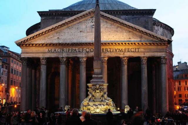 Scenic views of Rome at night captured on a teen summer tour to Italy.