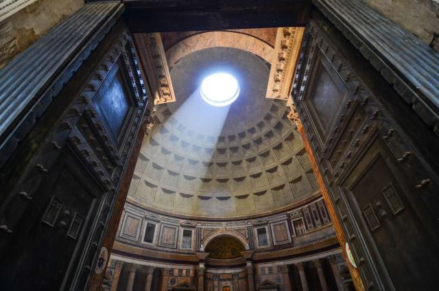 Views of the Pantheon in Rome captured on a summer teen tour in Italy.