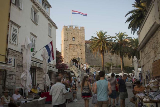 View of Croatia seen on summer teen adventure program