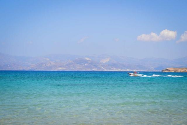 View of Aegean Sea enjoyed by teen travelers during summer youth travel program in Greece