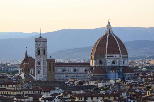 View of Florence Duomo seen on summer teen travel program