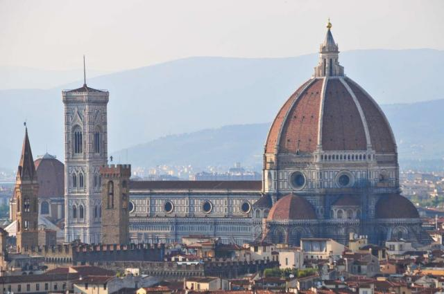View of Florence Duomo at sunset seen on summer teen travel program.