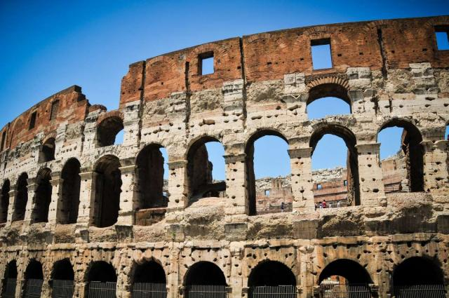 The historical Colosseum captured on a summer high school program to Italy.