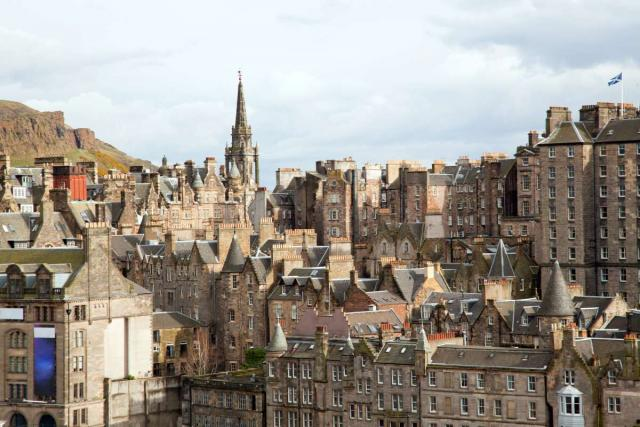 View of Edinburgh seen on summer teen travel program
