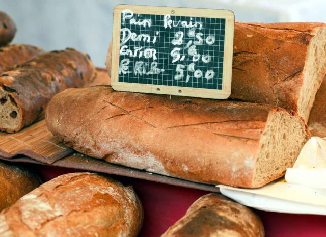 Authentic local French bread cuisine eaten during summer teen travel program in Paris