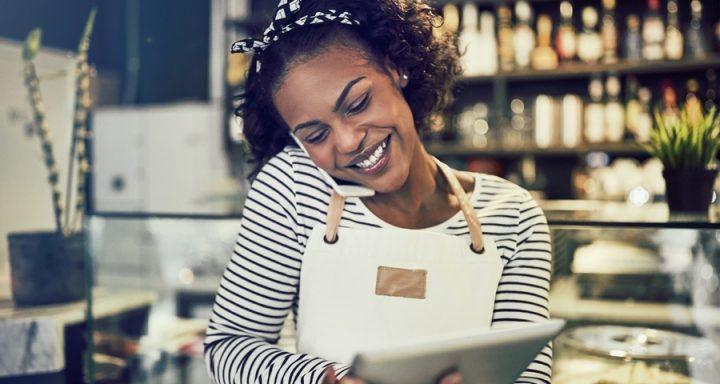 black woman on laptop