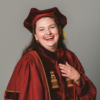 Portrait of Emmalie Raye Berkovsky.