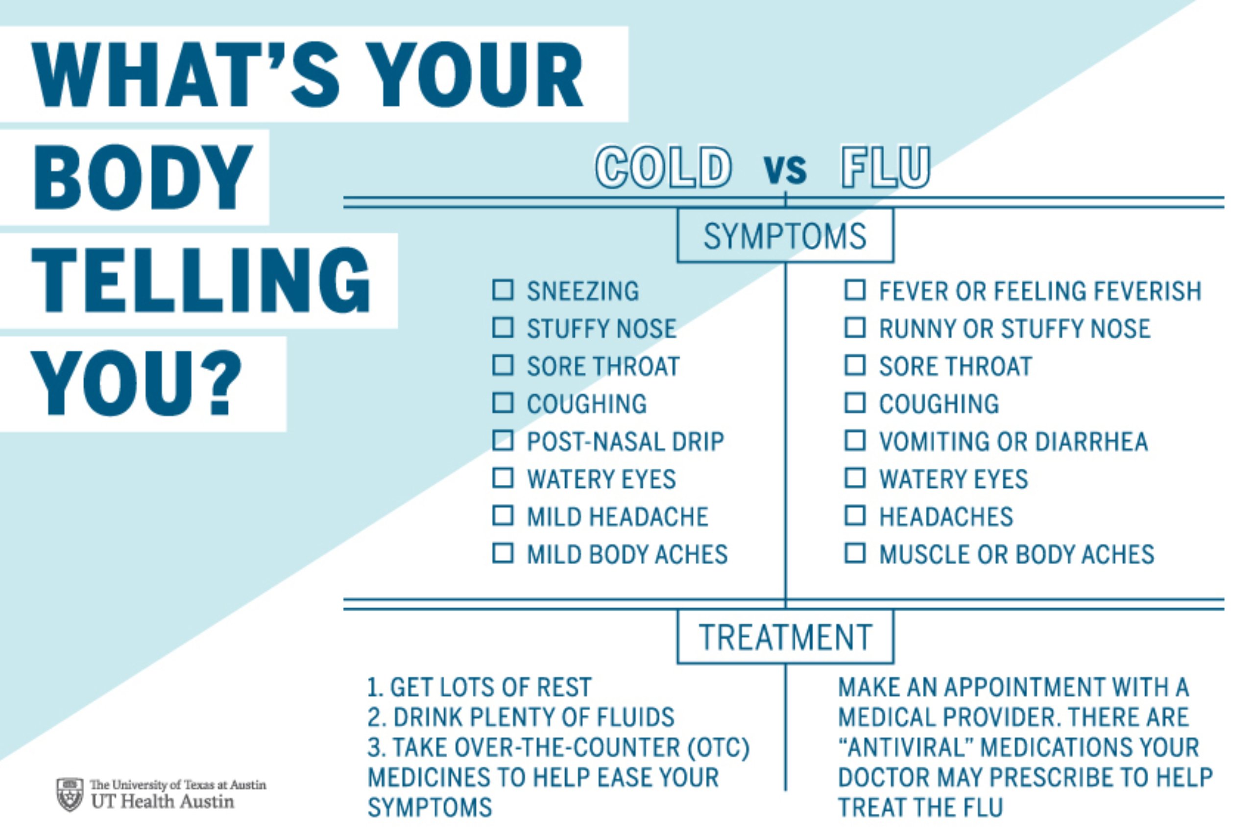 Cold Vs Flu Infographic